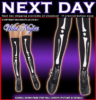 HALLOWEEN FANCY DRESS # SKELETON PRINT STOCKINGS